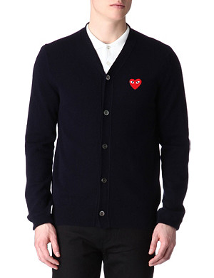 COMME DES GARCONS PLAY PLAY heart cardigan