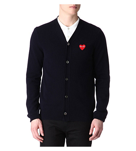 COMME DES GARCONS PLAY PLAY heart cardigan (Navy