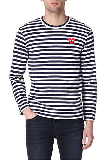 COMME DES GARCONS PLAY Striped long-sleeved top