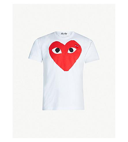 COMME DES GARCONS PLAY Heart logo cotton-jersey T-shirt (White