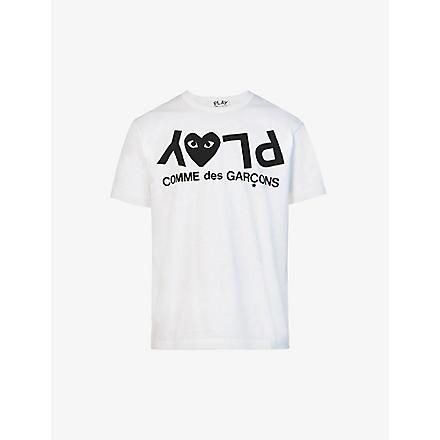 COMME DES GARCONS PLAY Logo-print t–shirt (White