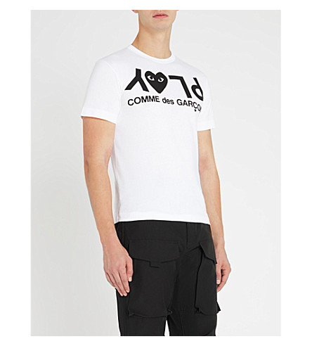 COMME DES GARCONS PLAY Play heart logo cotton-jersey t-shirt (White