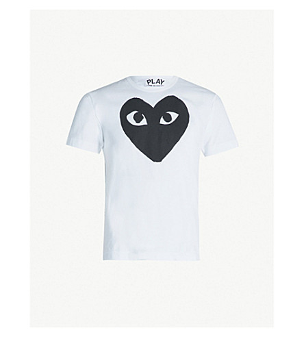 COMME DES GARCONS PLAY Heart logo t-shirt (White/black