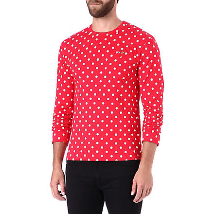 COMME DES GARCONS PLAY Polka dot top (Red/wht