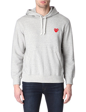 COMME DES GARCONS PLAY Heart-appliqué hoody