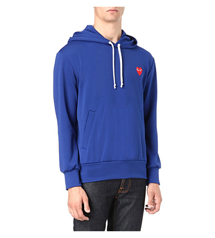 COMME DES GARCONS PLAY Heart logo hoody (Navy