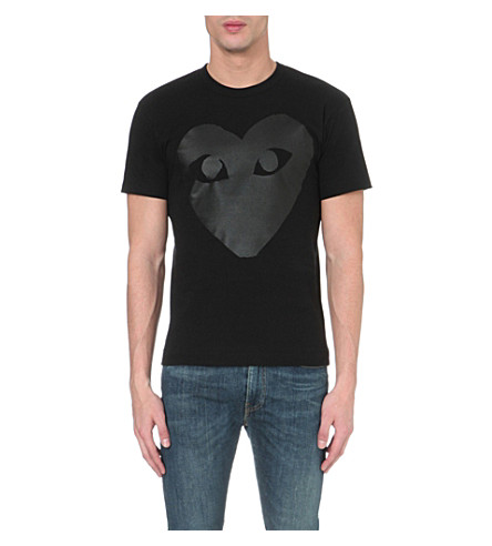 COMME DES GARCONS PLAY Heart logo t-shirt (Black