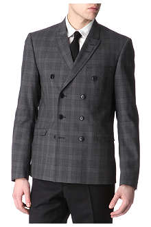 TIGER OF SWEDEN Brook double-breasted checked blazer