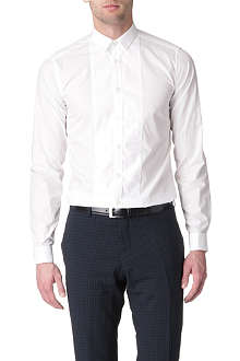TIGER OF SWEDEN Piqué-bib double-cuff shirt