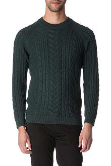TIGER OF SWEDEN Tailgate cable-knit jumper