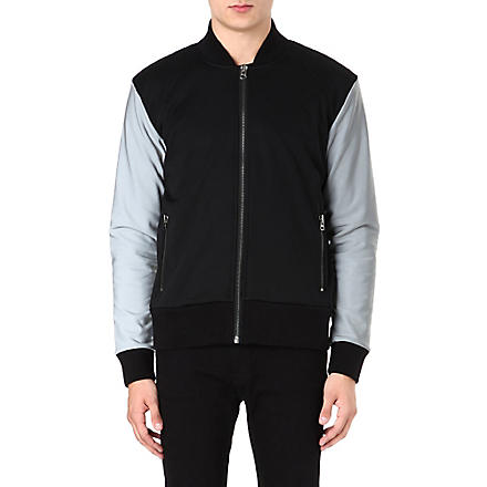 BLOOD BROTHER Reflective bomber jacket (Black
