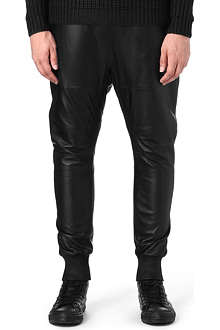 BLOOD BROTHER Leather jogging bottoms