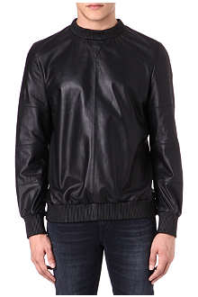 BLOOD BROTHER Leather sweatshirt