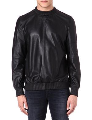 BLOOD BROTHER Leather sweatshirt