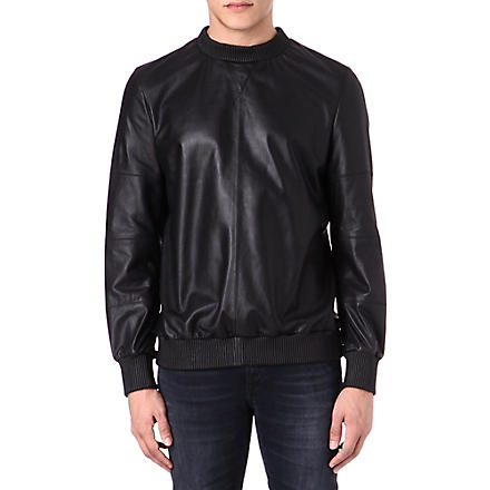 BLOOD BROTHER Leather sweatshirt (Black