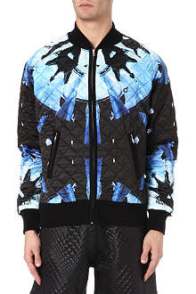 BLOOD BROTHER Disc quilted bomber jacket