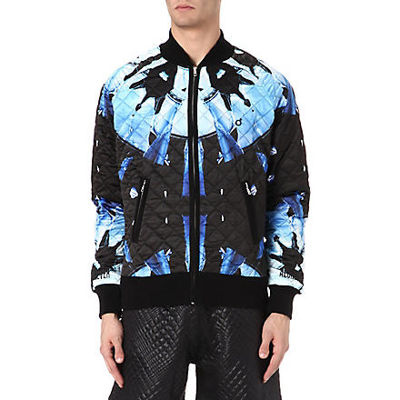 BLOOD BROTHER Disc quilted bomber jacket (Black