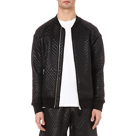 BLOOD BROTHER Gator quilted bomber jacket (Black