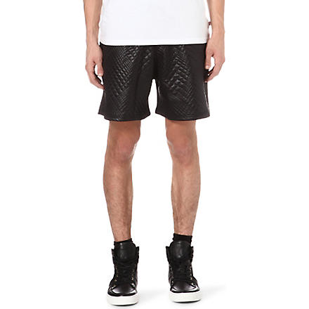 BLOOD BROTHER Gator shorts (Black
