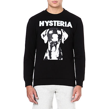 BLOOD BROTHER Hysteria dog-print sweatshirt (Black