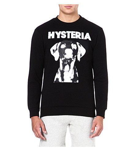 BLOOD BROTHER Hysteria dog-print sweatshirt (Black