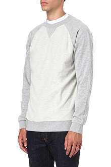 BLOOD BROTHER Team raglan loopback sweatshirt