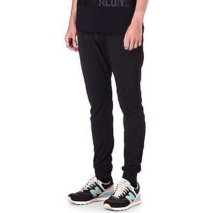 BLOOD BROTHER Molle drop-crotch jogging bottoms (Black