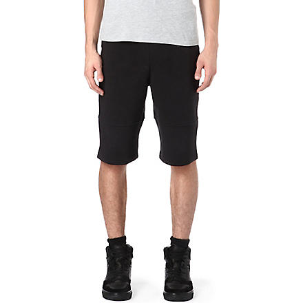 BLOOD BROTHER Power drop-crotch shorts (Black