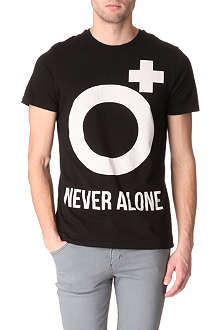 BLOOD BROTHER Never Alone logo t-shirt