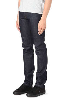 MCQ ALEXANDER MCQUEEN Embroidered slim-fit straight jeans