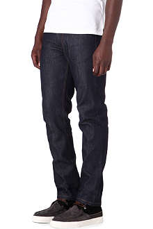 MCQ ALEXANDER MCQUEEN Raw slim-fit straight jeans