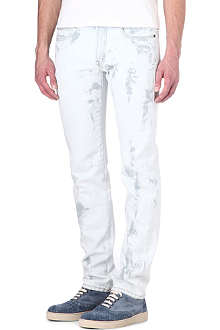 MCQ ALEXANDER MCQUEEN Bleach wash slim-fit straight denim jeans