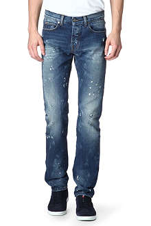MCQ ALEXANDER MCQUEEN Rip and Repair slim-fit straight jeans