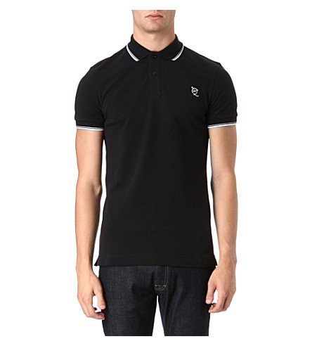 MCQ ALEXANDER MCQUEEN Logo polo shirt (Black