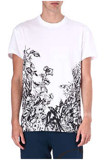 MCQ ALEXANDER MCQUEEN Floral and swallow t-shirt