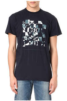MCQ ALEXANDER MCQUEEN Checkered logo printed t-shirt
