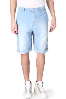 MCQ ALEXANDER MCQUEEN Stone-washed tailored denim shorts