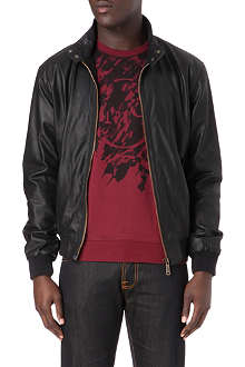 MCQ ALEXANDER MCQUEEN Harrington leather jacket