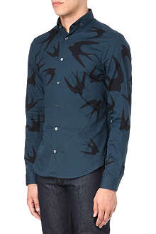 MCQ ALEXANDER MCQUEEN Floral and swallow shirt