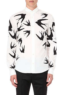 MCQ ALEXANDER MCQUEEN Swallow single-cuff shirt