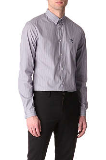 MCQ ALEXANDER MCQUEEN Micro-check single-cuff shirt
