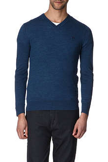 MCQ ALEXANDER MCQUEEN Logo-embroidered wool jumper