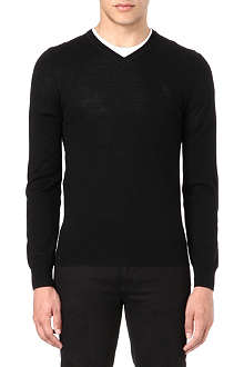 MCQ ALEXANDER MCQUEEN V-neck basic knit jumper