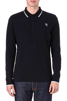MCQ ALEXANDER MCQUEEN Logo long-sleeved polo shirt