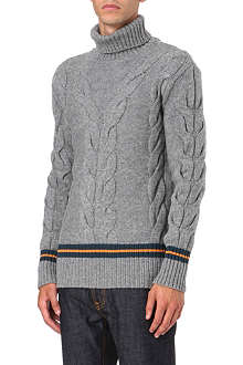 MCQ ALEXANDER MCQUEEN Cable knit roll neck jumper