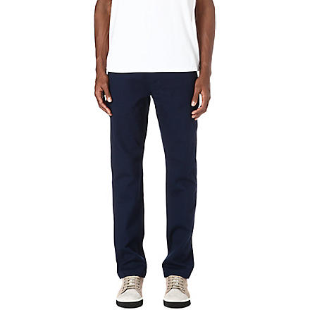 SATURDAYS SURF NYC Bellows cotton-twill trousers (Navy