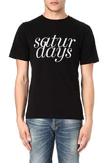 SATURDAYS SURF NYC Broken Italic t-shirt