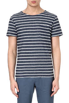 SATURDAYS SURF NYC Cole boat-neck striped t-shirt