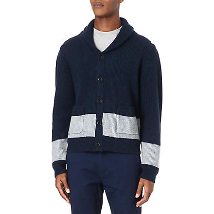 SATURDAYS SURF NYC Kurt shawl-collar cardigan (Navy