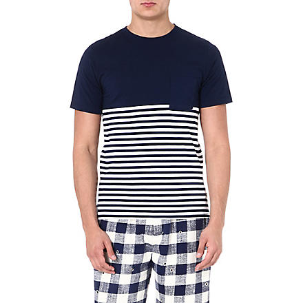 SATURDAYS SURF NYC Randall striped t-shirt (Navy